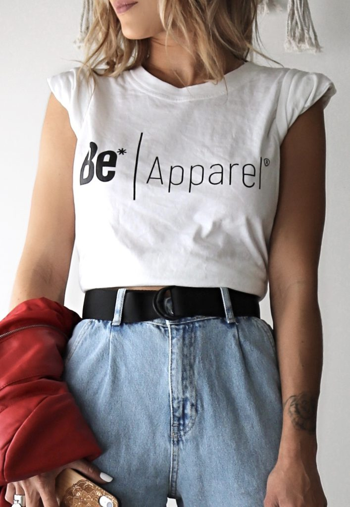 tee-shirt Be* Apparel blanc